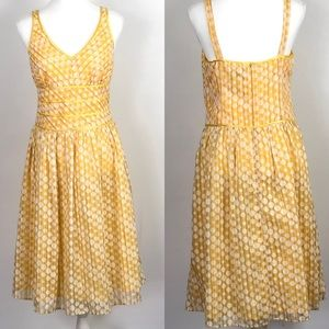 Robbie Bee Yellow Polka Dot Summer Dress